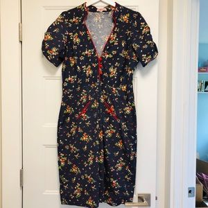 Trollied Dolly Forties Style Pin Up Dress - XL